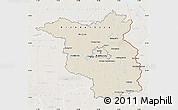 Shaded Relief Map of Brandenburg, lighten
