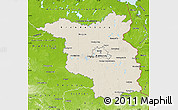 Shaded Relief Map of Brandenburg, physical outside