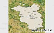 Shaded Relief Map of Brandenburg, satellite outside