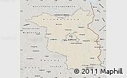 Shaded Relief Map of Brandenburg, semi-desaturated