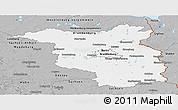 Gray Panoramic Map of Brandenburg