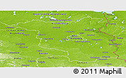 Physical Panoramic Map of Brandenburg
