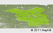 Physical Panoramic Map of Brandenburg, semi-desaturated
