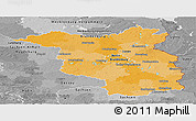 Political Panoramic Map of Brandenburg, desaturated