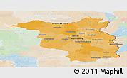 Political Panoramic Map of Brandenburg, lighten