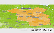 Political Panoramic Map of Brandenburg, physical outside