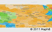 Political Panoramic Map of Brandenburg