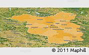 Political Panoramic Map of Brandenburg, satellite outside