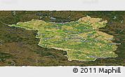 Satellite Panoramic Map of Brandenburg, darken