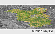 Satellite Panoramic Map of Brandenburg, desaturated