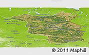 Satellite Panoramic Map of Brandenburg, physical outside