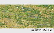 Satellite Panoramic Map of Brandenburg