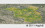 Satellite Panoramic Map of Brandenburg, semi-desaturated
