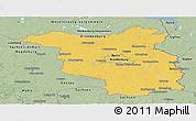 Savanna Style Panoramic Map of Brandenburg