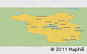 Savanna Style Panoramic Map of Brandenburg, single color outside