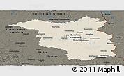 Shaded Relief Panoramic Map of Brandenburg, darken