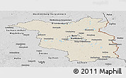 Shaded Relief Panoramic Map of Brandenburg, desaturated