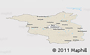 Shaded Relief Panoramic Map of Brandenburg, single color outside