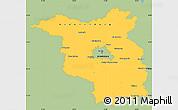 Savanna Style Simple Map of Brandenburg, single color outside