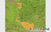 Political 3D Map of Bremen, satellite outside