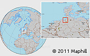 Gray Location Map of Bremerhaven