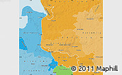 Political Shades Map of Bremen