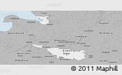 Gray Panoramic Map of Bremen