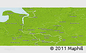Physical Panoramic Map of Bremen