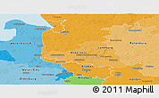 Political Shades Panoramic Map of Bremen