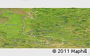 Satellite Panoramic Map of Bremen