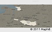 Shaded Relief Panoramic Map of Bremen, darken