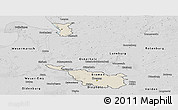 Shaded Relief Panoramic Map of Bremen, desaturated