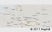 Shaded Relief Panoramic Map of Bremen, semi-desaturated