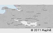 Gray Panoramic Map of Bremen