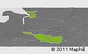 Physical Panoramic Map of Bremen, desaturated