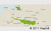 Physical Panoramic Map of Bremen, shaded relief outside