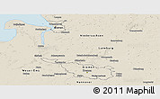 Shaded Relief Panoramic Map of Bremen
