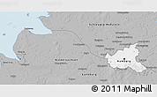 Gray 3D Map of Hamburg