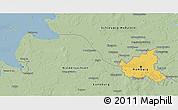 Savanna Style 3D Map of Hamburg