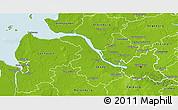 Physical 3D Map of Hamburg