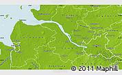 Physical Map of Hamburg