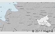 Gray Map of Hamburg