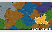 Political Map of Hamburg, darken