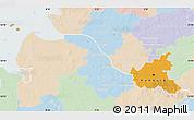 Political Map of Hamburg, lighten