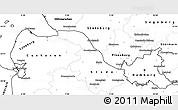 Blank Simple Map of Hamburg