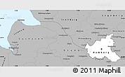 Gray Simple Map of Hamburg