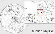 Blank Location Map of Hamburg