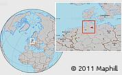Gray Location Map of Hamburg