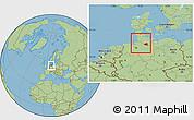 Savanna Style Location Map of Hamburg