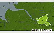 Physical Map of Hamburg, darken